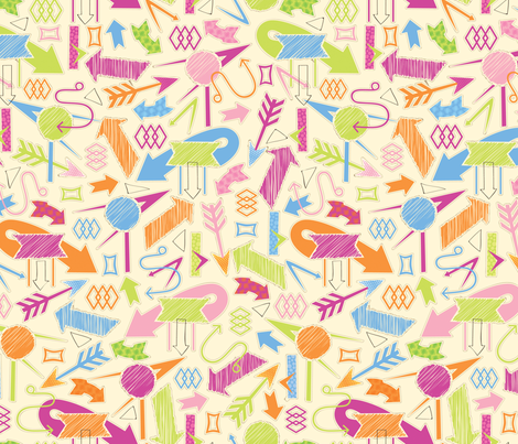 All Signs Point to Candy fabric by jennartdesigns on Spoonflower - custom fabric