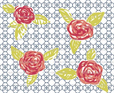 Quatrefoil and Roses
