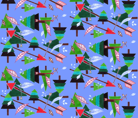 Evergreens & Arrows fabric by painter13 on Spoonflower - custom fabric