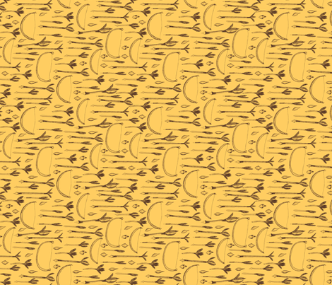 A Boy's Own Golden Arrow Collection - Vintage Yellow Background (4) fabric by rhondadesigns on Spoonflower - custom fabric