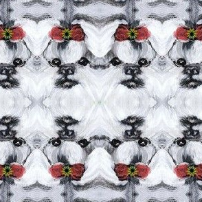 SHIH TZU HOLIDAY BOW-