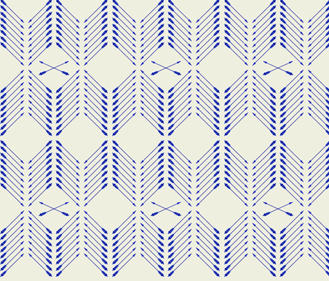 Indigo_Arrows-01 fabric by jessica_jill on Spoonflower - custom fabric