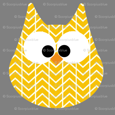 HOOTS in yellow on grey