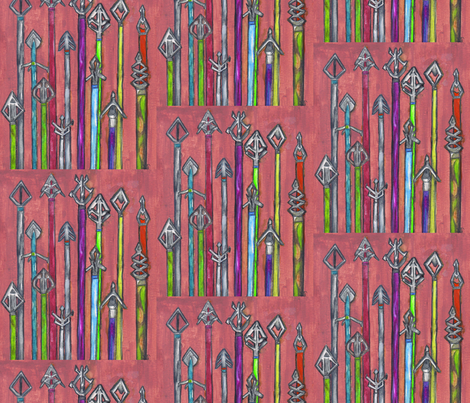 Arrows_Arrows_Everywhere__ fabric by chovy on Spoonflower - custom fabric