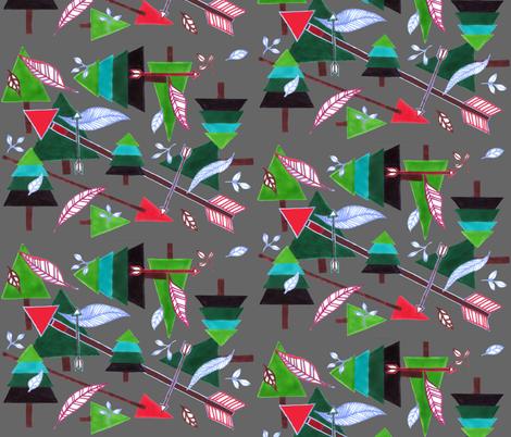 Evergreens & Arrows - dark grey