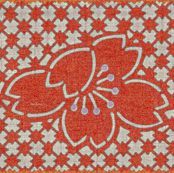 plum blossom quilt - coral red/gray