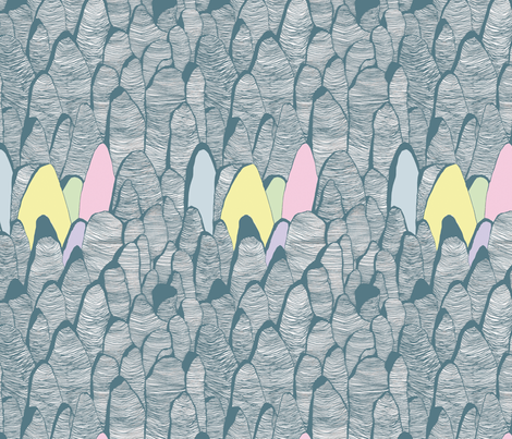Rocky Mountains fabric by marinamolares on Spoonflower - custom fabric