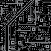 Evil Robot Circuit Board (Black and Gray)