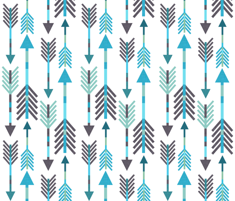 Arrow Blues fabric by endemic on Spoonflower - custom fabric