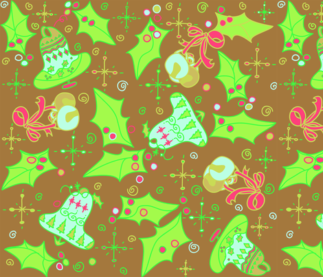 christmas_bells fabric by bluest on Spoonflower - custom fabric