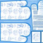 Aquabluetoileovenmittsfabricpatternfatquarterwithpaperpatternornamentpattern_shop_thumb