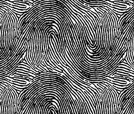 Fingerprint stripes black & white fabric by ben_goetting on Spoonflower - custom fabric
