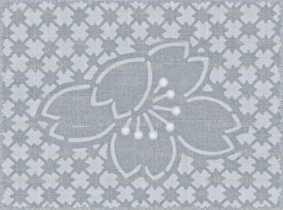 Plum Blossoms Quilt - gray