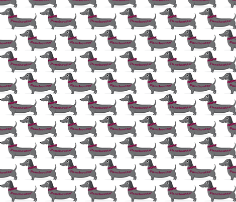 Panchoutte Logo fabric by les_lubies_de_lolly on Spoonflower - custom fabric