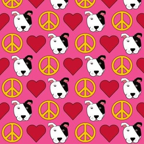 Pink Peace, Love & Pit Bulls