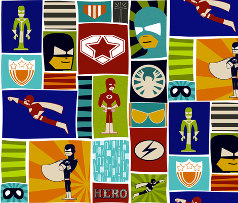 Comic Book Heroes fabric by natitys on Spoonflower - custom fabric