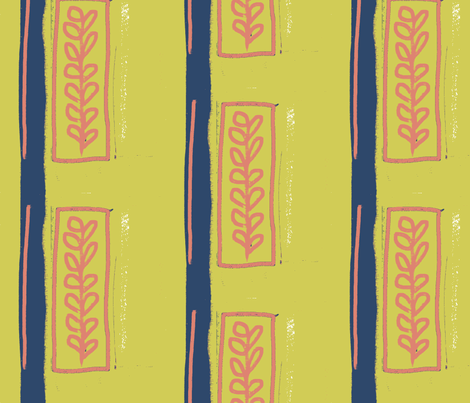 Matisse Cartouche fabric by wiccked on Spoonflower - custom fabric