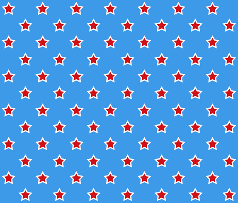 Superhero Stars On Superhero Blue  fabric by arttreedesigns on Spoonflower - custom fabric