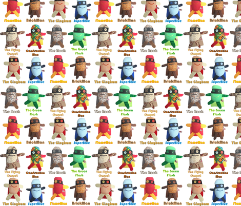 Mooglee Superheros Classic fabric by smuk on Spoonflower - custom fabric