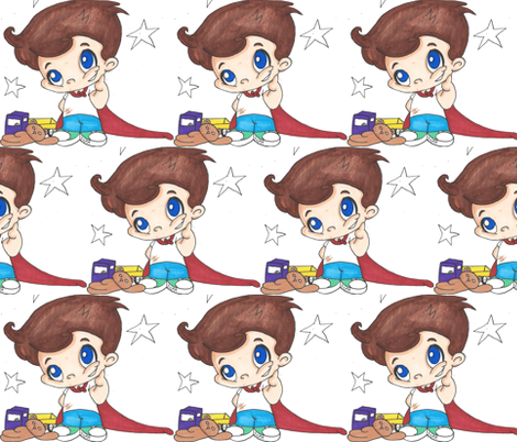 Hero Boy fabric by themcconnel on Spoonflower - custom fabric
