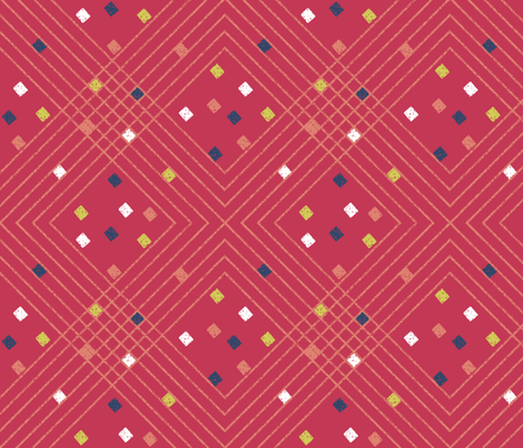 after_Matisse_PLAID_red fabric by glimmericks on Spoonflower - custom fabric