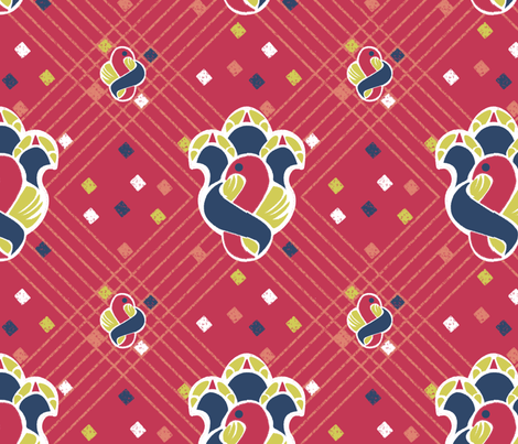 after_Matisse2a_red fabric by glimmericks on Spoonflower - custom fabric