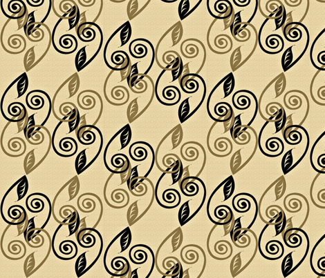 tendrils cocoa fabric by glimmericks on Spoonflower - custom fabric