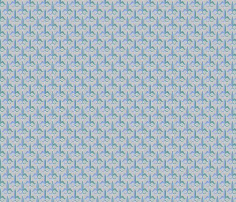 fleur_de_lis_wavey_teal fabric by glimmericks on Spoonflower - custom fabric