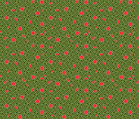 watermelons fabric by glimmericks on Spoonflower - custom fabric