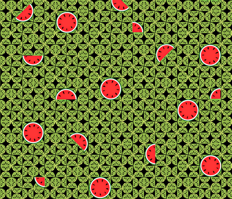 watermelons (large) fabric by glimmericks on Spoonflower - custom fabric