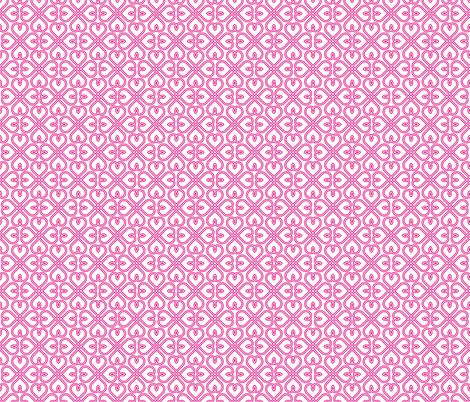 Sweet Heart in Bright Pink fabric by claudiaowen on Spoonflower - custom fabric