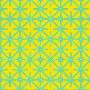 Flower Seeds in Yellow and Aqua