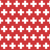 Swiss flag - white cross on red