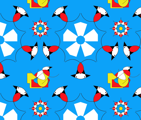 Geobird and the Penguin fabric by neonraisin on Spoonflower - custom fabric
