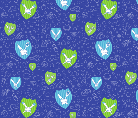 Everyday Superheroes fabric by cmoradi on Spoonflower - custom fabric