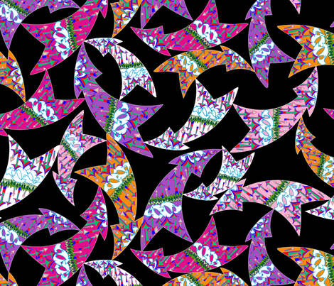 My arrows fabric by juliagrifol on Spoonflower - custom fabric