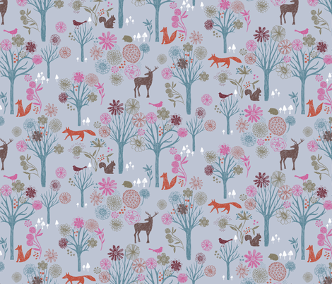 fantastic forest fabric by bethan_janine on Spoonflower - custom fabric