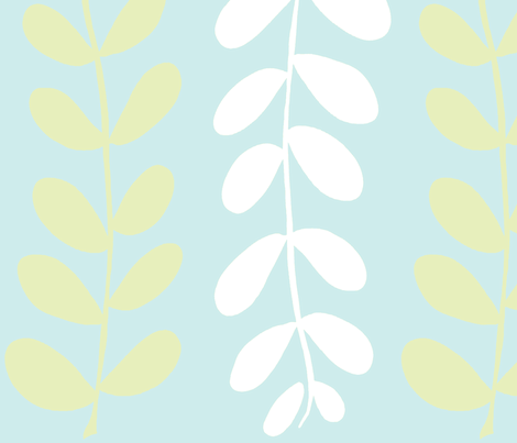 Olive Branches (lime, Lt. Aqua & white) fabric by pattyryboltdesigns on Spoonflower - custom fabric