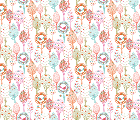 Fun trees fabric by bethan_janine on Spoonflower - custom fabric