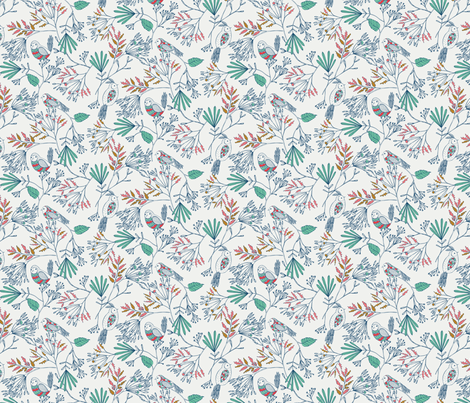 Pattern Birdies fabric by bethan_janine on Spoonflower - custom fabric