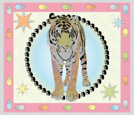 Bollywood_Tiger_42x36in fabric by vannina on Spoonflower - custom fabric