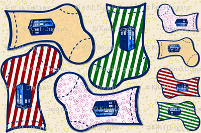 Police Box Christmas Stockings, DIY Holiday Decor