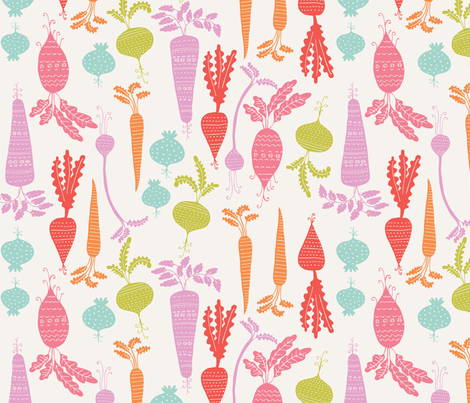 rootin tootin veg summer fabric by bethan_janine on Spoonflower - custom fabric