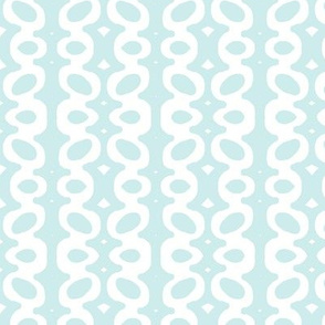 Egg Drop Stripe (Lt. Aqua & white)