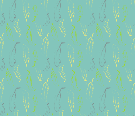 'Adorn yourself with borrowed plumes' fabric by tscho on Spoonflower - custom fabric