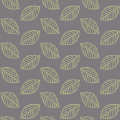 Canary Leaves in Yellow and Gray
