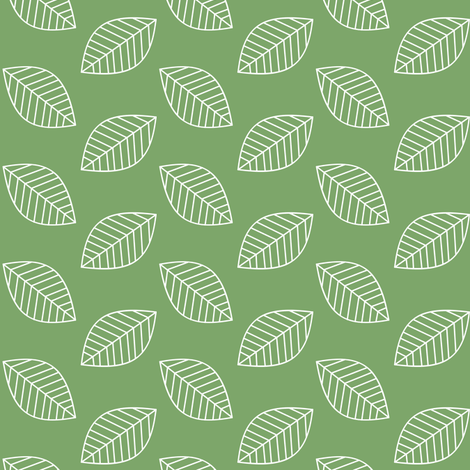 Falling leaves in Pickle Green fabric by fridabarlow on Spoonflower - custom fabric