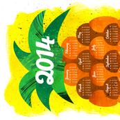 2014 Pineapple Tea Towel Calendar (sized for Linen Cotton)