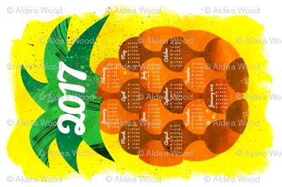 2017 Pineapple Tea Towel Calendar (27x18)