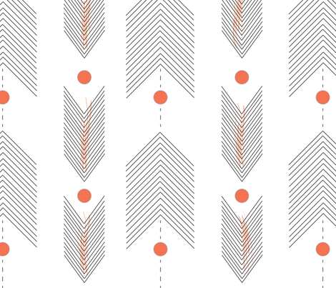 Arrows  fabric by clairejean on Spoonflower - custom fabric